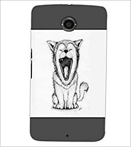 PrintDhaba Yawning Cat D-1440 Back Case Cover for MOTOROLA GOOGLE NEXUS 6 (Multi-Coloured)