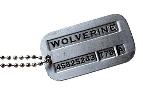 Marrywindix Male Cool Kpop X-men Wolverine 2 Necklace Vintage Weapon-x Dog Tags Pendant by Marrywindix