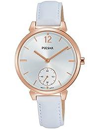 Pulsar Damen-Armbanduhr Analog Quarz Leder PN4060X1