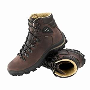 QUECHUA FORCLAZ 700 MEN'S HIKING BOOTS, BROWN LEATHER (48)