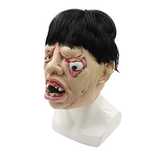 Mut Anime Kostüm - WANG XIN Scary Halloween Mask Horror Toothy und One Eyed Kostüm Cosplay Spielzeug Creepy Melting Face Latex Kostüm Sammlerstück Prop for Halloween Party, Karneval Party