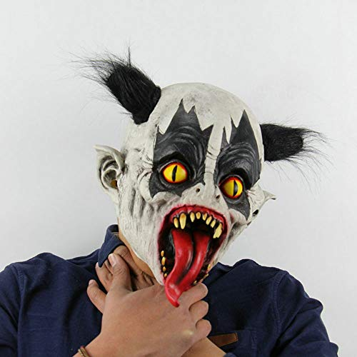 Edelehu Fledermaus Clown Halloween Maske Beängstigend Gruselige Horror Cosplay Kostüm Bandana Latex Beängstigenden Kopf Zombie-Maske