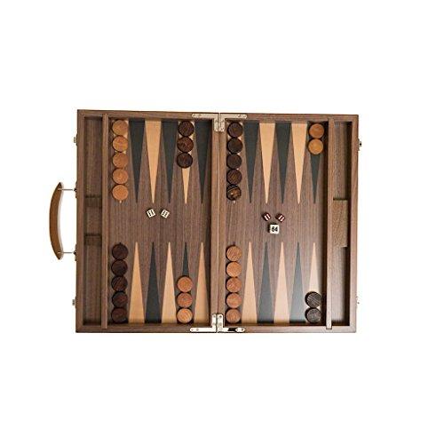 Backgammon Koffer, Intarsienarbeit, mit Zieradern, Holz, 39 cm, medium