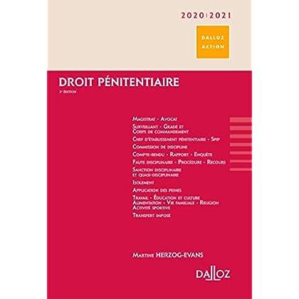 Droit pénitentiaire 2020/2021 - 3e éd.