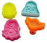 Lote de 4 cortadores de galletas, diseño de Star Wars