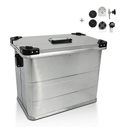 Alu Seitenkoffer Bagtecs 1 x 45l + Adapter für 16mm Kofferträger Yamaha XJR 1200 XJR1200/ SP, 1300/ Racer, XSR 700/ 900, XT 125 R/ X, XT 600 E/ R/ X