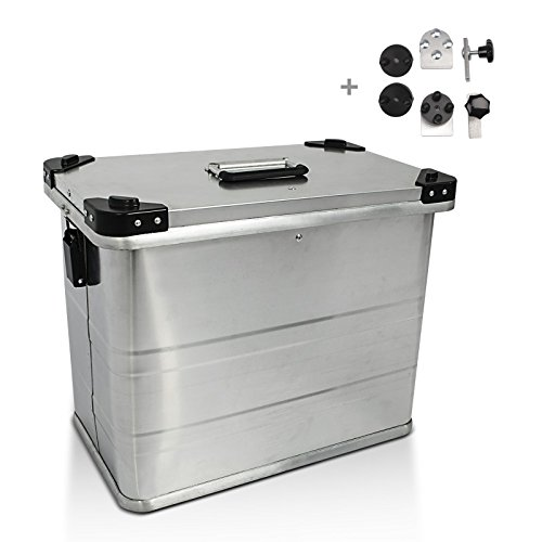 Maletas laterales aluminio Bagtecs 1 x 45l + Kit de montaje para...