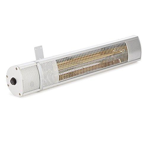 blumfeldt Gold Bar 2000 • Infrarot-Heizstrahler • Wand-Heizstrahler • max. 2000 Watt Leistung • regulierbar in 3 Stufen • einfache Installation • Gold-Infrarotröhre • Fernbedienung • silber - 4