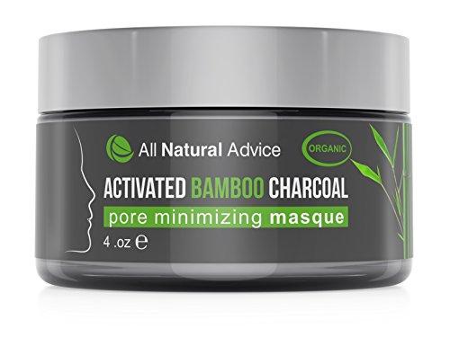 Gesichtsmaske (Masque) aus Aktivkohle/Bambus von All Natural Advice, 120 ml oder 4 oz | Natürlich und biologisch | Zur Entfernung von Mitessern und Minimierung von Poren | Unterstützt die Reduzierung von Akne und Hautunreinheiten für ein klareres Hautbild – hergestellt in Kanada (Aktivkohle Großen)