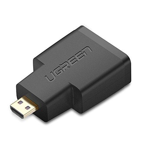 UGREEN Connecteur Micro HDMI Mâle vers HDMI Femelle Adaptateur Micro HDMI (Type D) Support Ethernet, 3D, 4K et Retour Audio Pour Raspberry Pi Zero, Canon EOS 700D, Nikon D5300 etc.