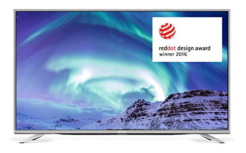 SHARP 4K Ultra-HD Smart TV, 140 cm (55 Zoll), Triple Tuner DVB-T/T2HD, DVB-S/S2, DVB-C, HEVC H.265, LC-55CUF8472, Silber