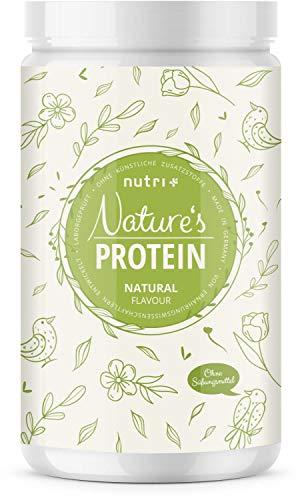 EIWEIßPULVER Neutral ohne Süßstoff 500g - 84,8% Eiweiß - Nutri-Plus Proteinpulver laktosefrei - als Shake oder zum Backen - Natures Protein Pulver hergestellt in Deutschland -