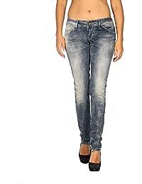 2ae06297f3 Meltin Pot - Jeans Vaquero para Mujer Marcelle - Slim Fit - Largo 31