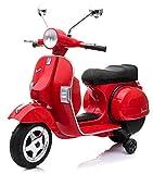 LGVSHOPPING Moto Motorino per Bambini Vespa Piaggio Px 150 con Luci e Suoni 12V (Rosso)