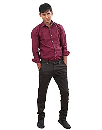 IndiWeaves Men Cotton Semi Formal/Casual Wear Black Color Trouser. Amazon.in Clothing ...