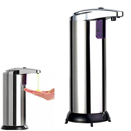 dispensador automático del jabón de la capacidad de 280ml, dispensador sin tacto del jabón del acero inoxidable, dispensador infrarrojo del desinfectante del sensor de movimiento del ir para la cocina, cuarto de baño, Hotel