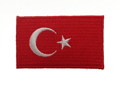 Yantec Patch Türkei 4 x 6,5 cm Flaggenaufnäher