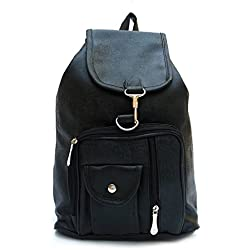 Vintage Stylish Girls School bag College Bag (In Four Colors)(bag r 124) (Black)