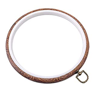 REFURBISHHOUSE Embroidery Hoop,Cross Stitch Hoop Ring Embroidery Circle Sewing Kit Frame Craft Photo Frame (Round Diameter: 21.8cm/8.58 inch)