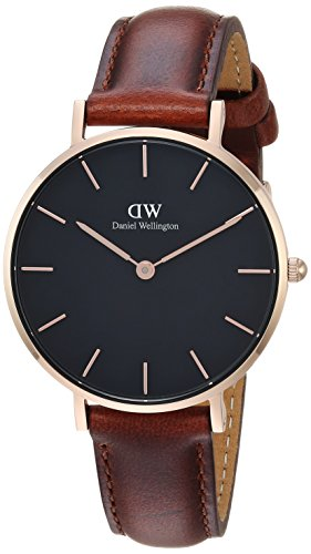 Daniel Wellington Classic Petite Analog Black Dial Women's Watch-DW00100169