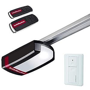 LiftMaster-LM80EVF-Accionamiento-para-puerta-de-garaje-compatible-con-myQ-para-puertas-de-hasta-130-kg-fuerza-de-traccin-800-N-incluye-emisor-manual-y-botn-de-pared-inalmbrica