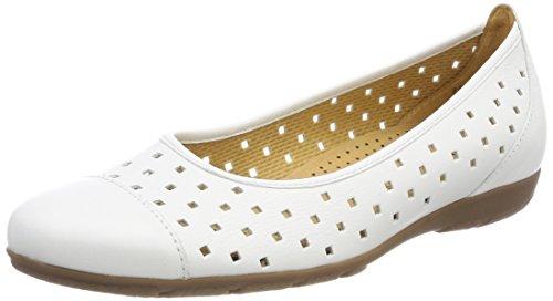 Gabor Shoes Damen Casual Geschlossene Ballerinas, Weiß (Weiss), 41 EU