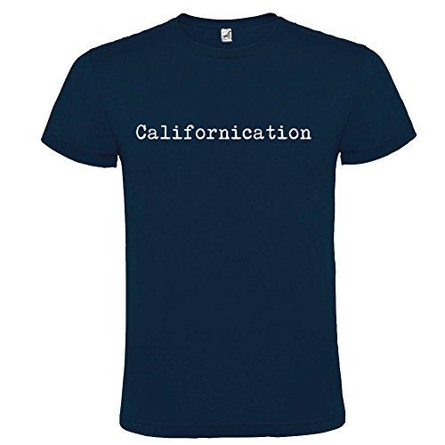 T-shirt manica corta Unisex Californication by Bikerella BLU NAVY/BIANCO