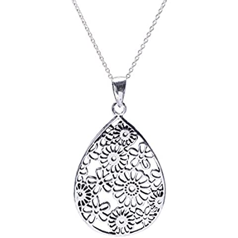 Silverly Pendente Donna Argento Sterling 925 Collana