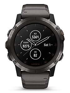 Garmin 010-01989-05 Fenix 5X Plus Uhr Titan 10 bar Digital Datum Licht Alarm