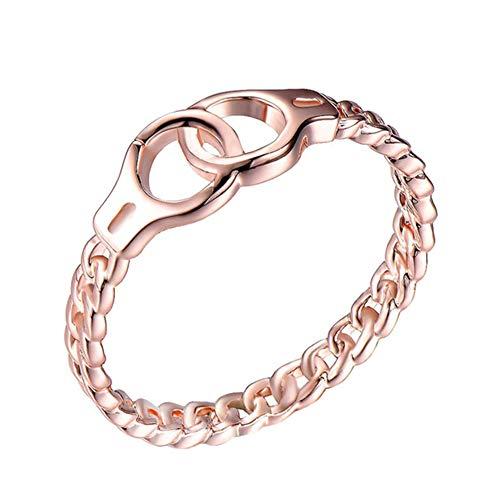 daliuing,Ring der Frauen Rose Gold 22k Ring kreative Handschellen Ring Schmuck feine Geschenk Schmuck