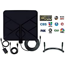 Antena de HDTV, antena de TV digital de alta definición amplificada 50-80 millas