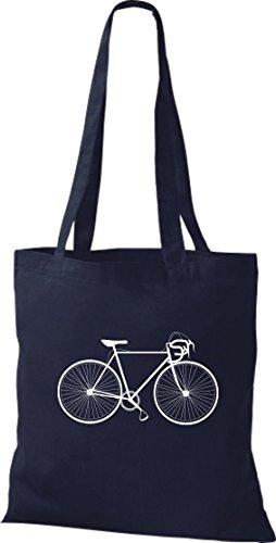 Stoffbeutel Fahrrad bike Rad Bonanza BMX Kult Baumwolltasche, Beutel , Farbe navy