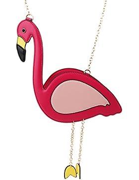 Chinget Damen Mädchen Nette Flamingo Form Schultertaschen Kuriertaschen Handtaschen Schulter Beutel Tote Beutel...