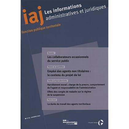 Les collaborateurs occasionnels du service public (IAJ No. 10)