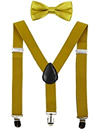 577b8e8c4923 HANERDUN Kids Braces Bowtie Sets Adjustable Suspenders With Bow Ties Gift  Idea For Boys And Girls