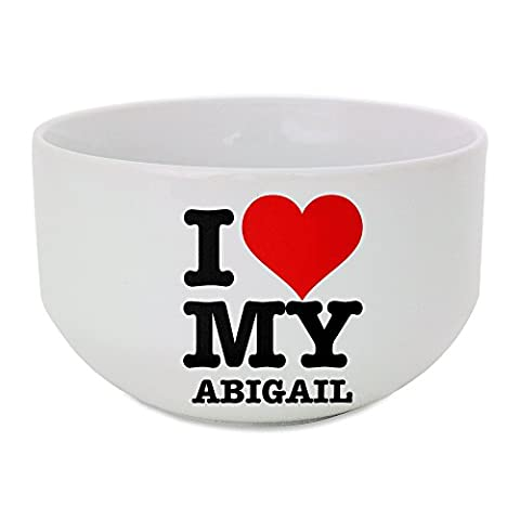 Ceramic bowl with I LOVE MY ABIGAIL
