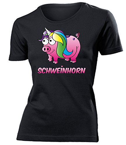 Schweinhorn 5937 Frauen T-Shirt (F-SW) Gr. (Kostüm Kondom Bilder)