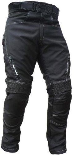Sportliche Motorrad Hose Motorradhose Schwarz Gr. L