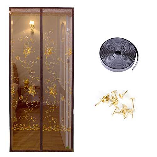 Chinesischer Stil Anti-Mosquito Anti-datenschutz Fliegengitter, Magnetische Chinesisch Schlafzimmer Wohnzimmer Küche Küche Wand Vorhang-b W:85cmxh:200cm - Datenschutz-boden-bildschirm