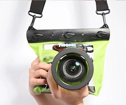 SMO 10cm 20M Wasserdicht Unterwasser-Kamera Gehäuse Case Tasche für SLR Canon Nikon Grün