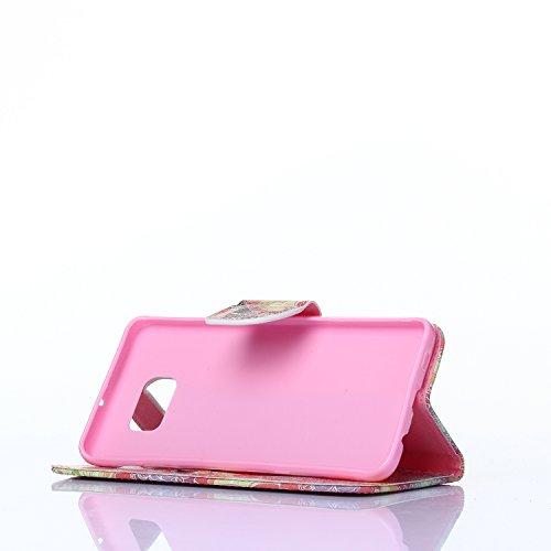 Coque pour Samsung Galaxy S4 i9500 i9505,Housse en cuir pour Samsung Galaxy S4 i9500 i9505,Ecoway Colorful imprimé étui en cuir PU Cuir Flip Magnétique Portefeuille Etui Housse de Protection Coque Étu Fleur de papillon