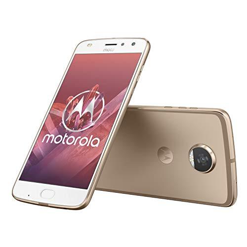 Motorola Moto z2 Play 13,97 cm (5,5 Zoll) Full HD Smartphone (Octa-Core Prozessor, 12MP Kamera, 4G LTE, NFC, 64GB Speicher, JBL SoundBoost, Dual-Nano-SIM, Android 7.1 Nougat) Gold