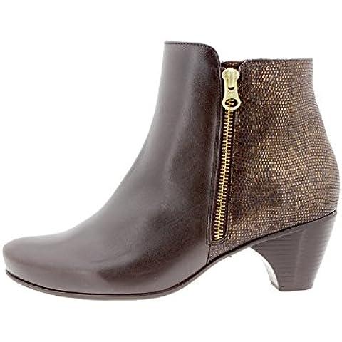 Calzado mujer confort de piel Piesanto 9880 botín casual cómodo ancho