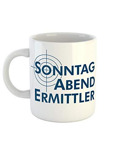 clothinx Kaffeetasse mit Aufdruck Sonntag Abend -