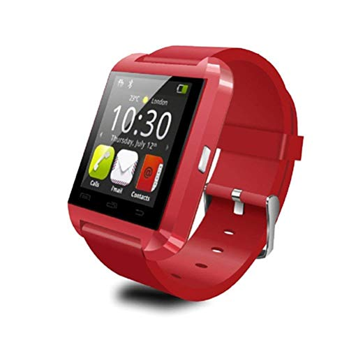 Lizes Montre Intelligente Bluetooth pour Smartphones Android Rouge Red