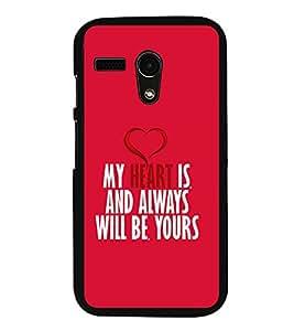 FUSON Always And Forever Heart Designer Back Case Cover for Motorola Moto G Turbo Edition :: Virat FanBox Moto G Turbo Virat Kohli