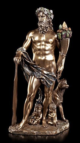 Faustulus Figur mit Romulus und Remus | Veronese Deko Statue Mythologie