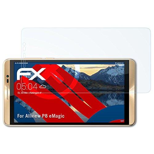 atFolix Schutzfolie kompatibel mit Allview P8 eMagic Panzerfolie, ultraklare & stoßdämpfende FX Folie (3X)