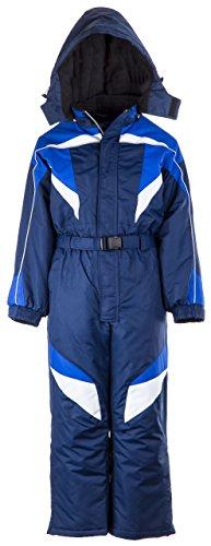 Winter opening/pEEM lB1201 116–140 combinaison de ski pour enfant 10 ans Bleu - Bleu foncé