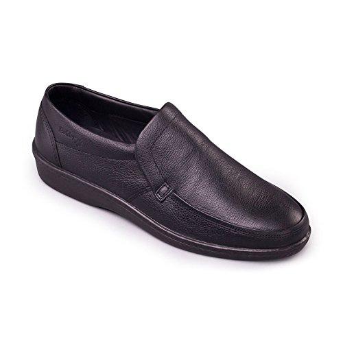 Padders Homme Chaussure en Cuir 'Digger'   Taille Standard F   Talon 30mm   Avec Chausse-Pied Gratuit Noir